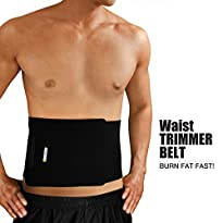 Bracoo Adjustable Waist Trimmer Belt, One Size, Black
