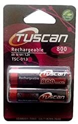 Tuscan AA 800 mAh Rechargeable Battery