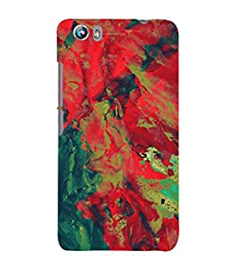 EPICCASE red waves Mobile Back Case Cover For Micromax Canvas Fire 4 A107 (Designer Case)