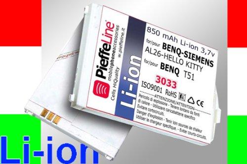 Batteria per BENQ SIEMENS AL26 HELLO KITTY BENQ T51 850 mAh Li-ion