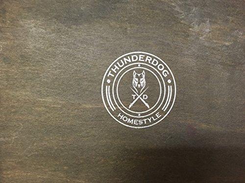 Thunderdog® Columbine 31x18x18,5 cm - Truhe, Holztruhe, Schatzkiste, Kiste, Piratenkiste Box Hochzeit Geburtstag Geschenk Verpackung Schmuckschatulle Schmuckkasten Piratenschatzkiste Ledertruhe - 4