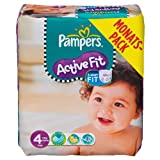 Pampers Windeln Active Fit Gr.4 Maxi 7-18kg Monatsbox, 168 Stück