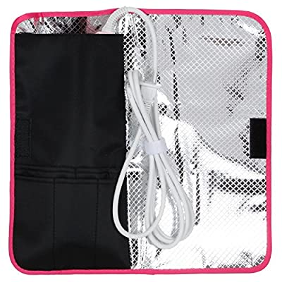 Thermostow Heat-resistant Hair Straightener Storage Bag, Thermal Pouch for Any Straightener, Curling Iron Storage, Cute, Convenient Beauty Product Storage
