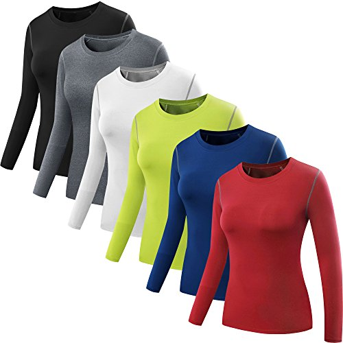 Neleus-Womens-3-Pack-Dry-Fit-Athletic-Compression-Long-Short-Sleeve-T-Shirt
