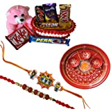 Kids Rakhi With Chocolate Hamper With Rakhi Thali