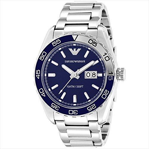 (エンポリオアルマーニ) EMPORIO ARMANI エンポリオアルマーニ 時計 メンズ EMPORIO ARMANI AR6048 スポルティボ 腕時計 ウォッチ シルバー/ブルー[並行輸入品]