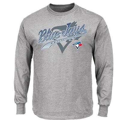 MLB Men's Basic Long Sleeve T-Shirt, Steel Heather