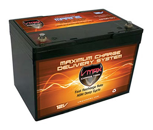VMAX MR96-60 AGM 12V 60AH AGM Battery Deep Cycle High Performance Battery ideal for 24-50lb thrust Minn Kota, Cobra, Sevylor and other electric trolling motors (Group 22NF, UPGRADES ANY 55AH 22NF BATTERY)