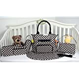 SoHo Collection, Grand Central 7 pieces Diaper Bag set *Limited time offer !* (Black)