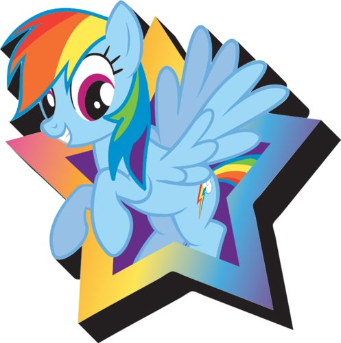 Aquarius My Little Pony Rainbow Dash Magnet - 1