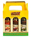 Red Monkey Foods Favorites Grinder 3 Piece Gift Set, Signature Grilling Spice-Tuscan Hills Salt-Hot Pepper Blend,