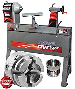 NOVA 57080 DVR 2024 20-Inch by 24-Inch Electronic Variable Speed Wood Lathe