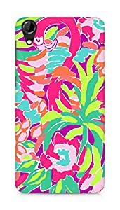 Amez designer printed 3d premium high quality back case cover for HTC Desire 728 (Lilly Pulitzer Lulu)