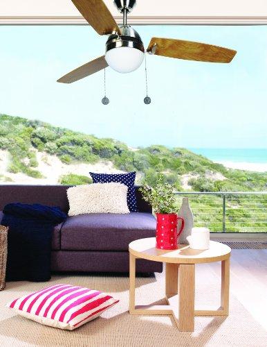 LUCCI AIR, Ventilatore da soffitto/lampadario con interruttore a tirante