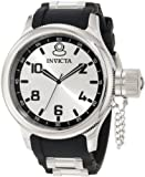 Invicta Men's 1435 Russian Diver Silver Dial Rubber Watch