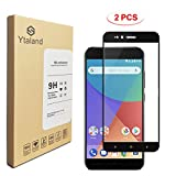 [2 Pack] Xiaomi Mi A1 Screen Protector, Ytaland Full Covered Tempered Glass Screen Protector Film for Xiaomi Mi A1 (Black)