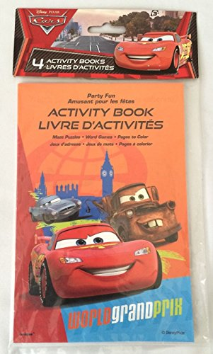4 Disney Cars Party Favor Coloring & Activity Books - 1