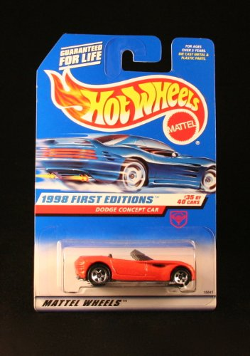 Mattel Hot Wheels 1998 First Editions 1:64 Scale Orange Dodge Concept Car Die Cast Car #035