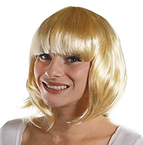 BOB WIG FANCY DRESS ACCESSORY LADIES 20'S FLAPPER PARTY HAIR SEXY COSPLAY SHORT BABE WIG IN MANY COLOURS (BLONDE)