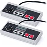 Two (2) Controllers Bundle For Nintendo NES Game System Bulk Packaging [Pack Of 2]