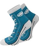 4 Paar Socken im chuck-Design mit vielen originalgetreuen Details