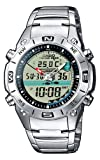 Casio AMW-702D-7AVEF Men's Analog and Digital Quartz Multifunction Watch with Steel Bracelet