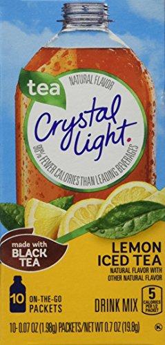 Crystal Light Iced Tea On The Go with Lemon, 10-Count, 0.7-Ounce Packages (Pack of 6) (Crystal Light Tea Lemon compare prices)