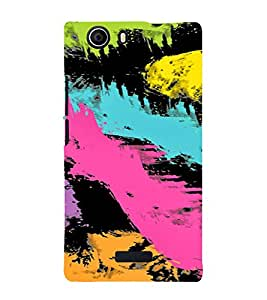 PrintVisa Painting Art Pattern 3D Hard Polycarbonate Designer Back Case Cover for Micromax Canvas Nitro 2 E311