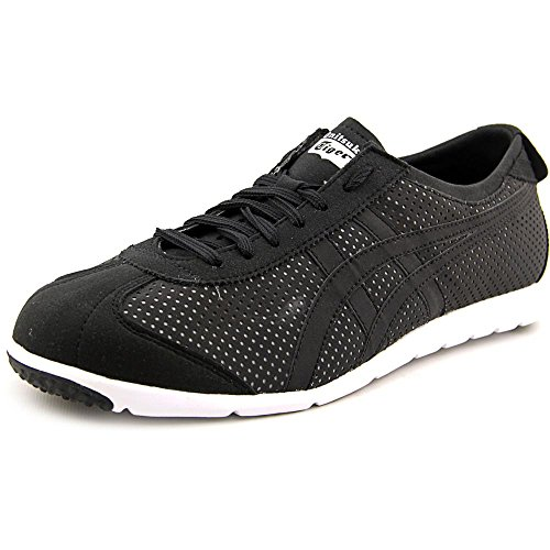 Onitsuka Tiger Rio Runner Fashion Sneaker,Black/Black,10.5 M US/12 Women's M US