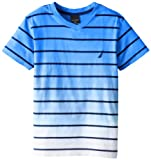Nautica Boys 8-20 Classic Striped Tee, Waverunner, Medium