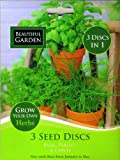75 Herb Seeds (3 Seed Discs) Basil/Parsley/Chives (MULTI-BUY DISCOUNT) Can be sown indoors all year around