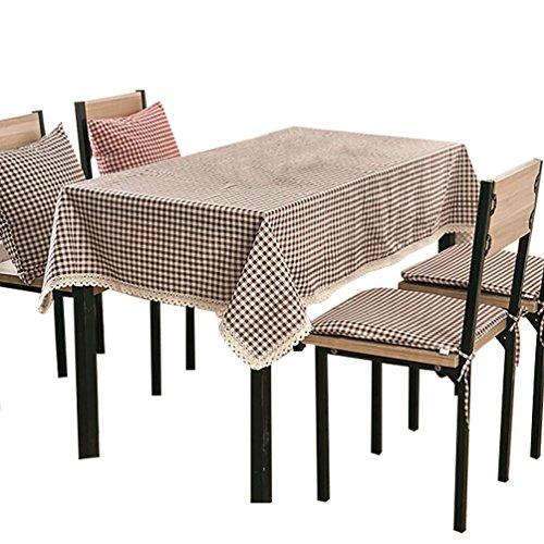 NiSeng Décor Tovaglia da tavolo in lino Tovaglia Antimacchia Rettangolare