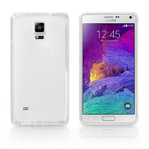 BoxWave Arctic Frost Samsung Galaxy Note 4 Crystal Slip – Colorful Slim Fit Frosted TPU Gel Skin Case for Durable Anti-Slip Protection – Samsung Galaxy Note 4 Cases and Covers (Frosted Clear)