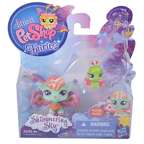 Littlest Pet Shop, Fairies, Shimmering Sky, Sunscape Fairy and Ladybug #2704 ...
