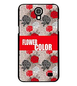 Printvisa 2D Printed Color Flower Designer back case cover for Samsung Galaxy Mega 2 G750F- D4237