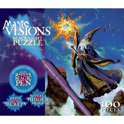 Magic Visions 100 Piece Black Light Puzzle - Wizards Touch - 1
