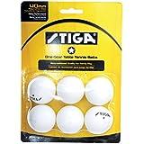 STIGA 1-Star Table Tennis Balls (6 Pack) White, 40 Mm/White
