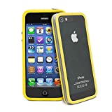 Original New Style Iphone 4/4s Hybrid TPU PC Bumper Frame Case Cover Silicon Bumper Transparent Yellow by TB1 Products ®