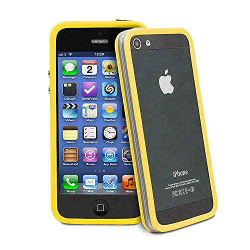 best-style-iphone-se-5-5s-hybrid-tpu-pc-bumper-frame-case-cover-silicon-bumper-transparent-yellow