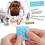 Zuoao Electronic Bubble Wrap Keychain Squeeze Relieve Stress Gadget Bubble Pop Toy Keyring Blue