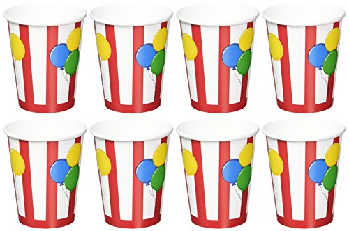 Creative Converting Circus Time Hot or Cold Beverage Cups, 8-Count