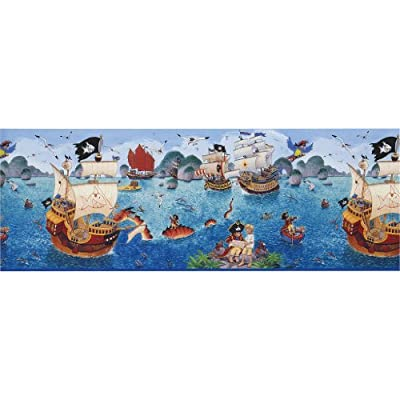 Rasch Wallpaper Border with Capt'n Sharky Printed Design by Rasch Tapete