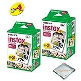 Fujifilm INSTAX Mini Instant Film 4 Pack 40 SHEETS (White) For Fujifilm Mini 8 Cameras