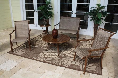 Chub Cay Patio Sling 5 Piece Seating Set