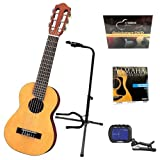 Yamaha GL1 Guitalele Guitar Ukulele with Tripod Stand, Tuner and Strings