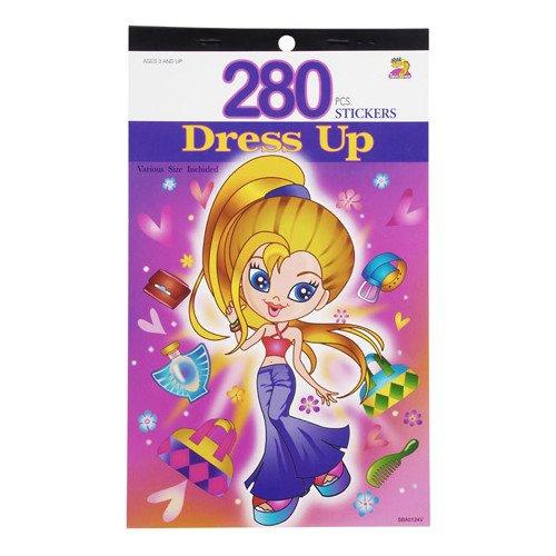 WeGlow International Dress Up 280 Sticker Book (4 Count)