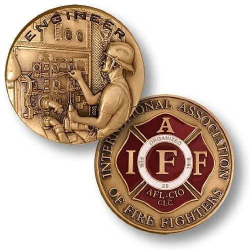 Firefighter Engineer Challenge Coin - 1