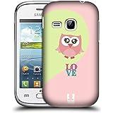 Samsung Galaxy Young S6310 , Pink Love : Head Case Designs Pink Love Kawaii Owl Hard Back Case For Samsung Galaxy...