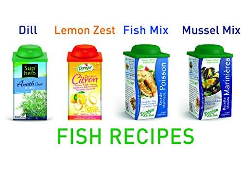 Daregal Fresh Frozen Chopped Herbs for Fish: Dill, Fish Mix, Mussel Mix - 1.76 Oz., Lemon Zest - 2.47 Oz.,