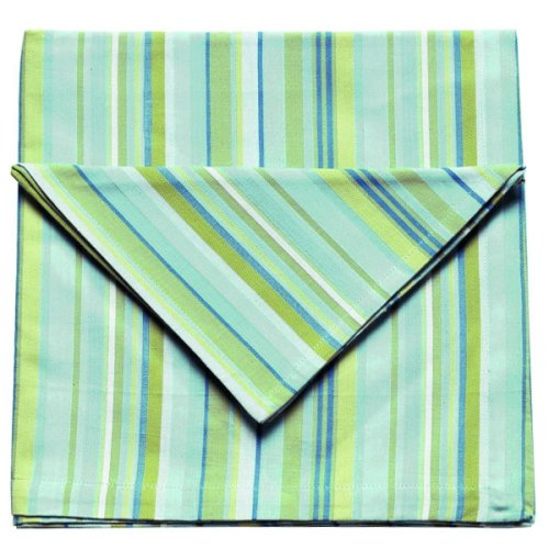 Lola Stripe Turquoise Tablecloth (52x72) - Buy Lola Stripe Turquoise Tablecloth (52x72) - Purchase Lola Stripe Turquoise Tablecloth (52x72) (Now Design / Danica, Home & Garden, Categories, Kitchen & Dining, Kitchen & Table Linens, Tablecloths)